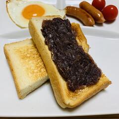 コーヒードリップ ブレンドセット 70袋   タソガレ(コーヒー豆(豆挽き済))を使ったクチコミ「朝食☆   『小倉トーストが食べたい』 …」(2枚目)
