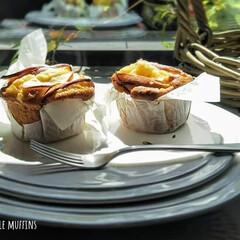 スイーツ作り/お菓子作り/焼き菓子/りんごのマフィン/アップルマフィン/リンゴ/... Apple & Cream cheese…