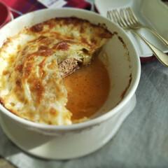 夕食/今日の夕食/家庭料理/ロールキャベツ/焼きロールキャベツ/食事情/... 巻かない焼きロールキャベツ  After…