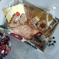 AfternoonTea/afternoon/お菓子作り/スノーボールクッキー/スノーボール/焼き菓子/... キラキラ!ステンドグラスのジンジャーレッ…(1枚目)