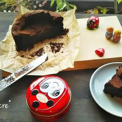 チョコレートケーキ/スイーツレシピ/小麦粉なし/ショコラ/バレンタインスイーツ/バレンタインデー/... *小麦粉を入れないガトーショコラ*  グ…
