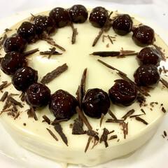 手作りケーキ/お菓子作り/ケーキ/チョコレートケーキ/チョコレート/グルメ/... *Cerises Blanc* スリーズ…