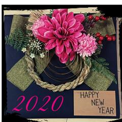 お正月2020/キャンドゥ/ダイソー/セリア/雑貨/ハンドメイド/... 今年は二種類のしめ縄を作ってみました。 …