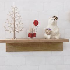 飾り棚/壁に付けられる家具/無印良品/ミッフィー/しろくま貯金箱/lovi/... 大好きな北欧雑貨♡
