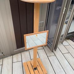 お一人様テーブル/ガレージ/ハンドメイド/DIY 1人用のテーブルを作りました。 ガレージ…