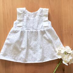 キッズ/子ども服/衣替え/おでかけ/ファッション/ハンドメイド 夏らしい素材を見つけたので、子ども服に★