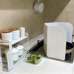 キッチンインテリア/暮らしを楽しむ/暮らしを整える/日々の暮らし/暮らし/掃除が楽/... お料理する時の油はねガードに、レンジガー…