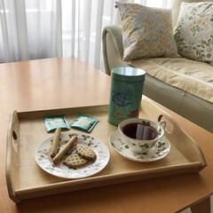 Wedgwood ワイルド・ストロベリー ティーカップ&ソーサー ピオニー | ウェッジウッド(マグカップ)を使ったクチコミ「お友達頂いたフォートナム&メイソンのクッ…」
