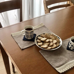 アラビア プレート ARABIA ブラック パラティッシ Black Paratiisi プレート ARABIA 21cm 6671 | アラビア(皿)を使ったクチコミ「強力粉を使ったクッキーを作りました🍪ミッ…」(1枚目)