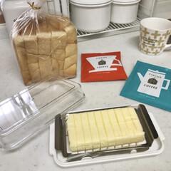 すっきり暮らす/丁寧な暮らし/暮らしを楽しむ/おうちモーニング/コーヒー好き/パン好き/... バターを同じサイズで切れるカッター付きの…