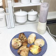 お手軽スムージー/スムージー/北欧食器/パンが好き/惣菜パン/お気に入りの食器/... 一人分用のスムージーが作られるビタントニ…