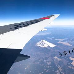 富士山/飛行機からの景色/飛行機/令和元年フォト投稿キャンペーン/おでかけ/旅行/... 飛行機に乗ってさぁ出発〜♩ 旅行に行った…