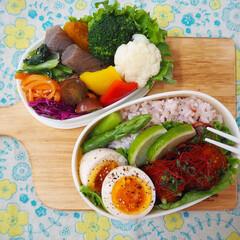 【手作りお弁当】フォトコンテスト/フォトコンテスト/栄養バランス/彩り/お弁当/フード 娘と自分のお弁当つくり(⍢)