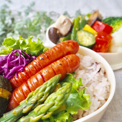 栄養バランス/彩り/お弁当/女子高生のお弁当/作り置き/おうちごはん/... 娘と私のお弁当づくり(1枚目)