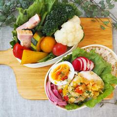 栄養バランス/彩り/女子高生お弁当/お弁当づくり/フード 娘と自分のお弁当づくり
