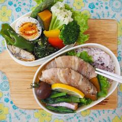 彩り/栄養バランス/フォトコンテスト/【手作りお弁当】フォトコンテスト/お弁当/フード 娘と自分のお弁当つくり(⍢)