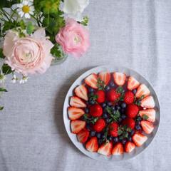 花のある暮らし/もうすぐ春/お誕生日/わたしのごはん/スイーツ  娘の誕生日ケーキ もはやぜりーもムース…