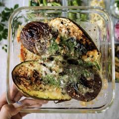 夏野菜/なす/グルメ/フード/おうちごはん/キッチン この時期出回るトロなすとシマなす。 豪快…