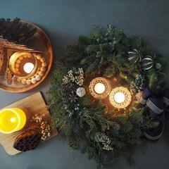 クリスマスディスプレイ/キャンドルナイト/キャンドルホルダー/Christmas/クリスマス/フレッシュリース/...
