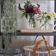 カッティングボード/倉敷帆布/春のフォト投稿キャンペーン/LIMIAインテリア部/収納/雑貨/... 花と好きな雑貨たち そんなものたちに囲ま…