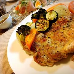 ディナー/我が家の夕食/グリル料理/夕飯 🌟今夜のdinner🌟  \ゴロゴロ…
