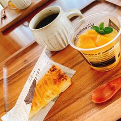 手作りスイーツ/私服のひととき/マンゴーフルーチェ/アップルパイ/家カフェ/キッチン/... ☀晴れた日は〜 お出掛けしたいところです…