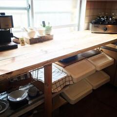 足場板/キッチン/カウンター/杉/ホームセンター/DIY/... キッチンの作業用カウンター ホームセンタ…