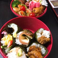 「みんなのお弁当」/みんなのお弁当 高1🌼女子ドカ弁🍱  🏫構内で手巻き寿司🍣