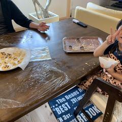 5ヶ月女の子/4歳男の子/家族時間/お菓子作り/簡単 家族みんなでクッキー作り♫ ふざけながら…