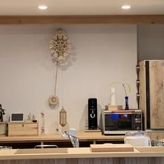 工作/キッチン/ペンデュラムクロック/木製時計/雑貨 木製時計出来た!思っていた以上にデカい