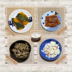 バテ気味…/鰻…克服したい😅/きゅうりの白だし漬け/おうちごはんクラブ/ゴーヤサラダ/ゴーヤの苦味が大好き 『晩御飯🍴』  今日は、前日の残りの か…