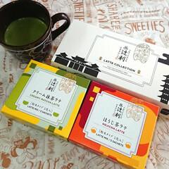 辻利/おやつ/至福のひと時/フォロー大歓迎 頂き物で3時🕒のお茶タイム クリーム抹茶…