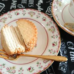 おやつ/チーズケーキ/ヨーグルト/東ハトハーベスト ネットで見たハーベストミルフィーユ作って…