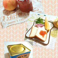 ドンレミー/NYチーズケーキ/アップルポテトタルト/わらしべ長者/桃ジャム/桃 福島の田舎から実家に桃が届いたので 初め…