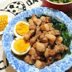 角煮/おうちごはん/節約/時短レシピ ルーロー飯作ってみました❣️ お肉たっぷ…