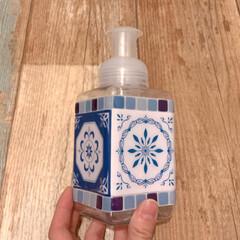 洗面所/容器/ボトル/ハンドソープ/泡ハンドソープ/フォロー大歓迎/... セリアの3点アイテムで泡ハンドソープ容器…