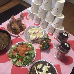 まっくろくろすけ/ケーキ風ハンバーグ/クリスマスごはん/ジブリ/フライングタイガー/フランフラン/... クリスマスパーティーは テーマをジブリに…