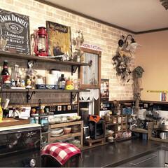 コリーナ/こだわりキッチン/こなれ感/カウンターは足場板/キッチン背面収納/キッチン背面/... 築25年。  キッチンリノベーション  …(2枚目)
