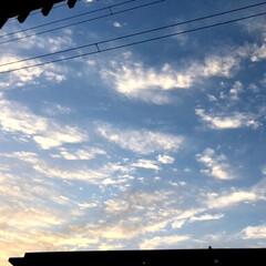 朝/雲/空/風景 おはようございます☀ 今朝6時20分‼️…