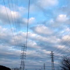 夕焼け雲/雲/ウォーキング/おでかけ/風景/おでかけワンショット 本日のウォーキング! 田舎の風景👍 綺麗…(2枚目)