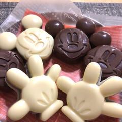 ミッキー/ディズニー/クッキー/バレンタインチョコ/ハンドメイド/スイーツ/... 今年のバレンタインチョコ💕 クッキーを焼…