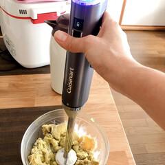 コードレス充電式ハンドブレンダー RHB-100J | クイジナート(その他調理用具)を使ったクチコミ「Cuisinartコードレス充電式ハンド…」(3枚目)