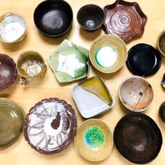 お皿/陶芸/ハンドメイド/キッチン雑貨/雑貨だいすき 娘が作ったお皿達です😊 どれも私好み💕 …