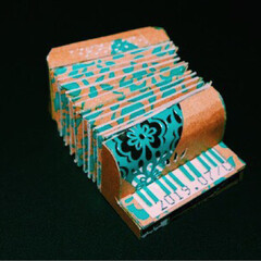 お菓子の箱再利用/チョコ/フォロー大歓迎/ハンドメイド/紙/リメイク 明治ザ・チョコレートの空き箱をリメイクし…