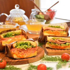 腸活/ビタミンミネラル豊富/野菜サンド/お野菜たっぷり/わんぱくサンド/おうちカフェ/... こどもの日🎏今年はなんかそのモードになり…