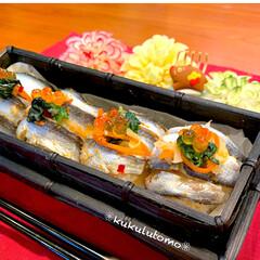 Japanesefood/OBENTO/おべんとう/手毬寿司/お節リメイク/なます/... 一口手まり寿司をお弁当におせちリメイクで…