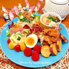 ありがとうございます/当選/キューピー/サラダクラブ/おうちごはん/おうちカフェ/... 和ンプレートごはん作りました(。˃ ᵕ …