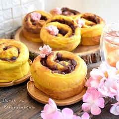 朝ごパン/焼きたてパン/萌え断/くるくる巻き巻き同盟/桜あんパン/手作りパン/... 昨夜かぼちゃのポタージュを作ったのが余っ…
