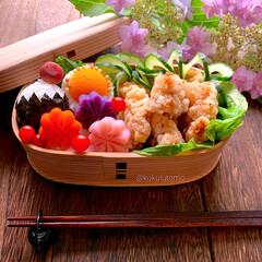 くるくる巻き巻き同盟/鶏の竜田揚げ/富士山おにぎり/お弁当/おうちごはん/ランチ/...   ❁頭の片隅で明日の弁当はˀ̥ ˀ̥ …