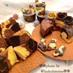 おうちcafé/おうちカフェ/猫の日/手づくりおやつ/くるくる巻き巻き同盟/薔薇クッキー/... 今日は何の日🐾2/22ニャンฅ^•ﻌ•^…